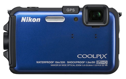 Nikon Coolpix AW100 waterproof camera - blue