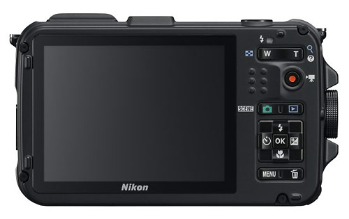 Nikon Coolpix AW100 waterproof digital camera - LCD display