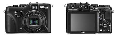 Nikon Coolpix P7100 high-end compact camera - front and back