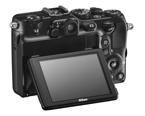 Nikon Coolpix P7100 camera - tilting vari-angle LCD display