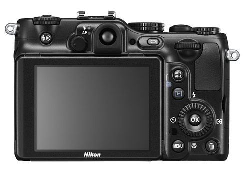 Nikon Coolpix P7100 camera - rear LCD display