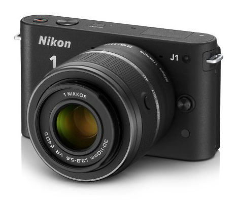 Nikon J1 compact mirrorless interchangeable lens camera - black