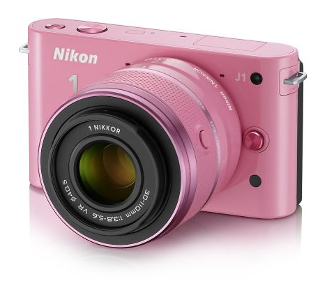 Nikon J1 compact mirrorless interchangeable lens camera - pink