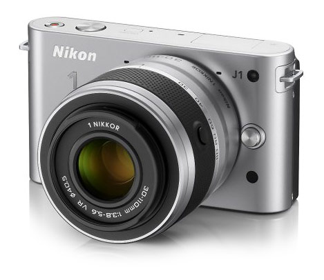 Nikon J1 compact mirrorless interchangeable lens camera - silver