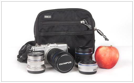 My honeymoon travel camera kit - Olympus E-P3 Pen camera, 14-150mm zoom, 9-18mm zoom, 12mm f/2.0 prime and 17mm f/2.8 prime.