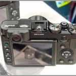 Top controls and rear LCD on the Fujifilm X10 camera