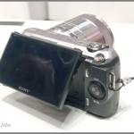 Sony Alpha NEX-C3 - tilting LCD display