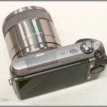 Sony Alpha NEX-C3 - top view