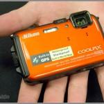 Nikon Coolpix AW 100 waterproof, shockproof camera - orange
