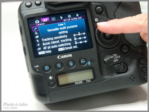 "Canon EOS-1D X ""Cases"" auto focus menu"