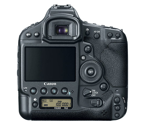 Canon EOS-1D X - rear and LCD display
