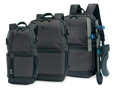 Lowepro DSLR Video Fastpack AW 150, 250 and 350 camera backpacks