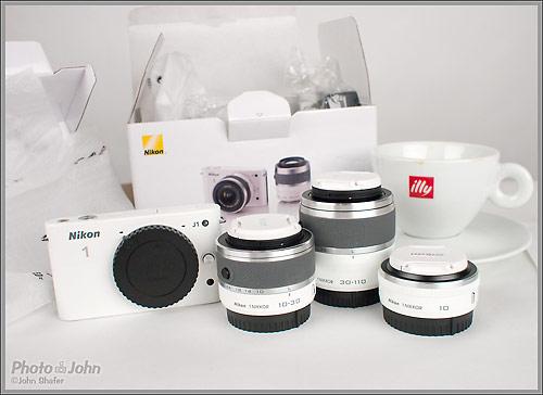 Nikon J1 Mirrorless Camera And Lenses