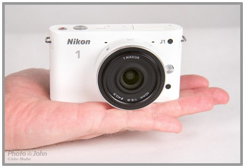 Nikon J1 - front with 10mm f/2.8 pancake lens