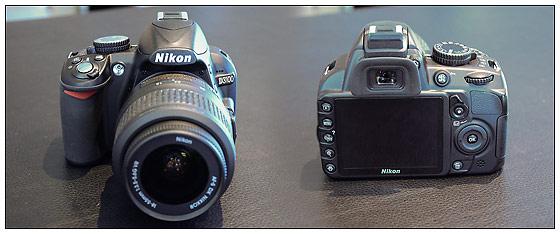 Nikon D3100 entry-level digital SLR - front and back