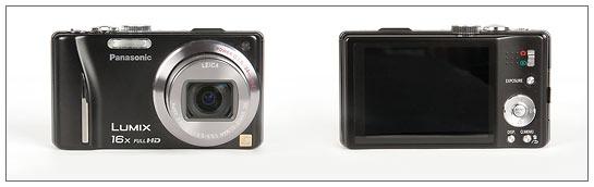 Panasonic Lumix ZS10 - front and back