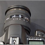 Sigma 24-70mm F2.8 IF EX DG HSM Zoom Lens - Top View