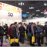 Busy Sigma Booth At PhotoPlus Expo
