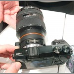 Sony NEX-7 - Top View With LA-EA2 Mount Adaptor