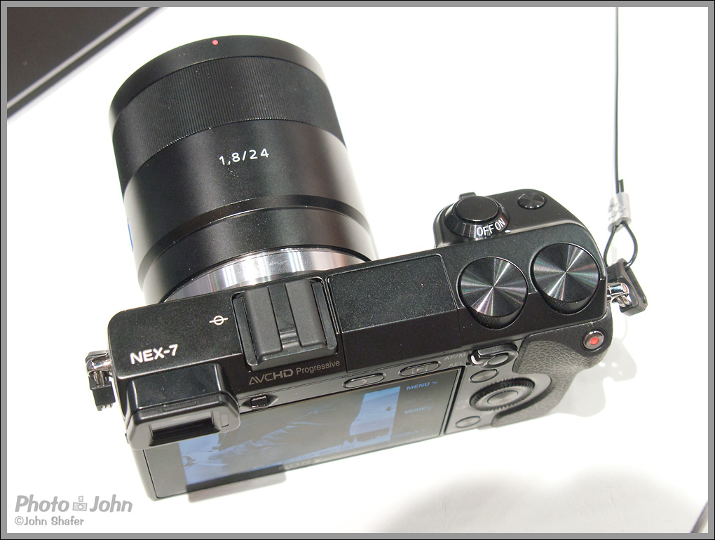 Sony Alpha NEX-7 - Top View With New Zeiss 24mm f/1.8 Lens