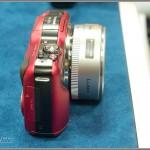 Panasonic Lumix GF3 Camera - Red - From Left