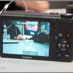 Canon PowerShot S100 - Rear LCD - Black