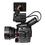 Canon EOS C300 Pro Cinema Camera With LCD Monitor And 85mm Lens