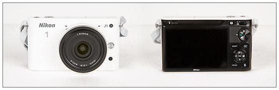 Nikon J1 Mirrorless Camera With 10mm f/2.8 Lens - Front & Back
