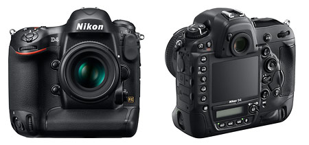 Nikon D4 - front and back