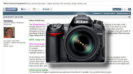 Nikon D7000 Tips Forum Thread