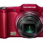 Olympus SZ-12 Superzoom Camera - Red