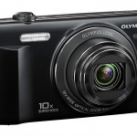 Olympus VR-340 Pocket Superzoom Camera - Left Front