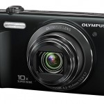 Olympus VR-340 Pocket Superzoom Camera - Front Right