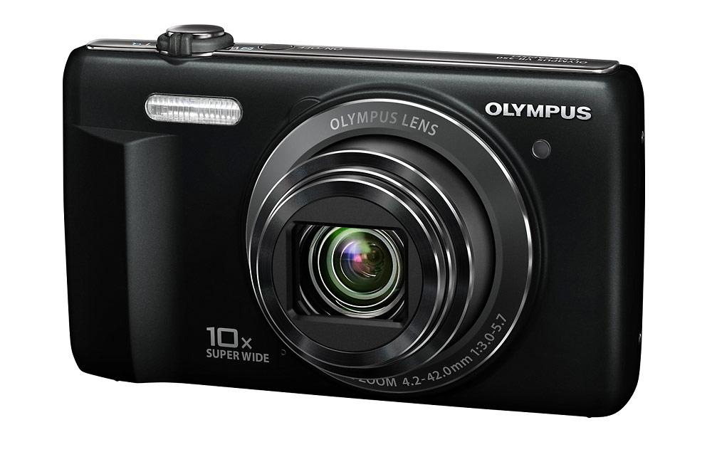 Olympus VR-340 Pocket Superzoom Camera - Front Right
