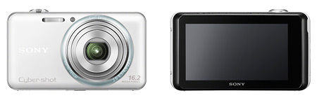 Sony Cybershot DSC-WX70 - Front & Rear Touchscreen LCD Display