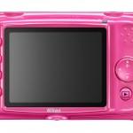 Nikon Coolpix S30 Waterproof Digital Camera - Pink - LCD Display