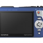 Olympus TG-820 iHS Tough Camera - Blue - Rear LCD