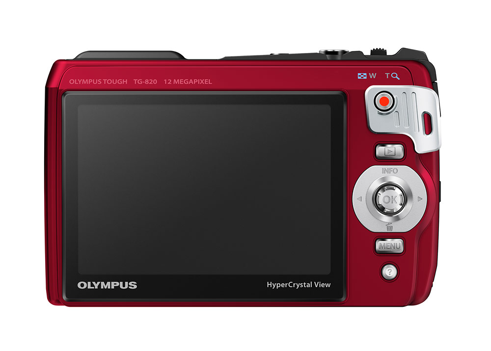 Olympus TG-820 iHS Tough Camera - Red - LCD