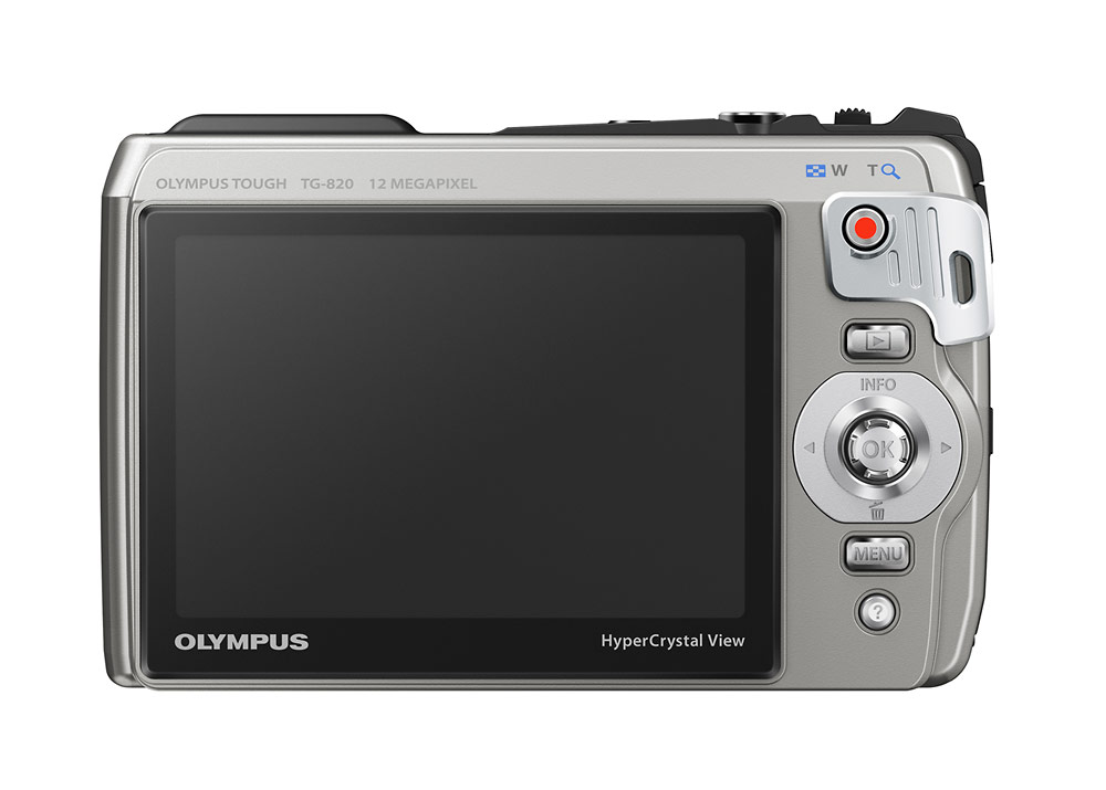 Olympus TG-820 iHS Tough Camera - Silver - Rear LCD