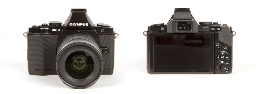 Olympus OM-D E-M5 Micro Four Thirds Camera - Front & Back