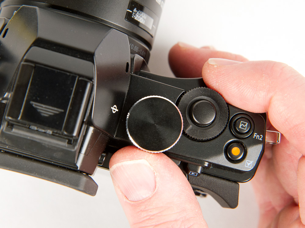 Olympus OM-D E-M5 Shutter Release & Exposure Control Dials