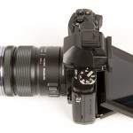 Olympus OM-D E-M5 - Top View With OLED Display Out