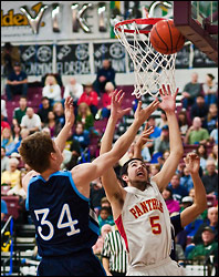 Basketball: Panthers Demolish Vikings - by Bob32