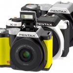 Pentax K-01 Mirrorless Camera - Yellow, White & Black