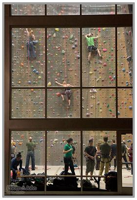 Sony NEX-5N - Climbing Gym ISO 3200 Sample Photo