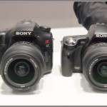 Sony Alpha SLT-A65 (left) and A55 (right)