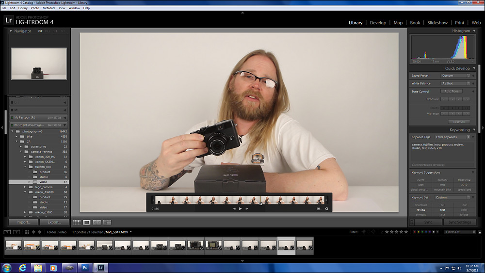 Adobe Lightroom 4 Video Display