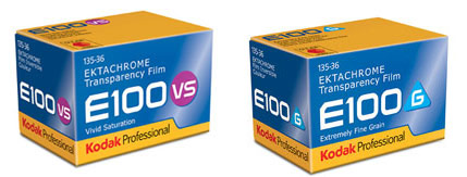 Ektachrome E100VS and Ektachrome E100G To Be Discontinued