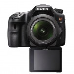 Sony Alpha SLT-A57 - Front View With LCD