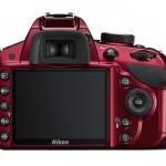 Nikon D3200 - Rear LCD - Red